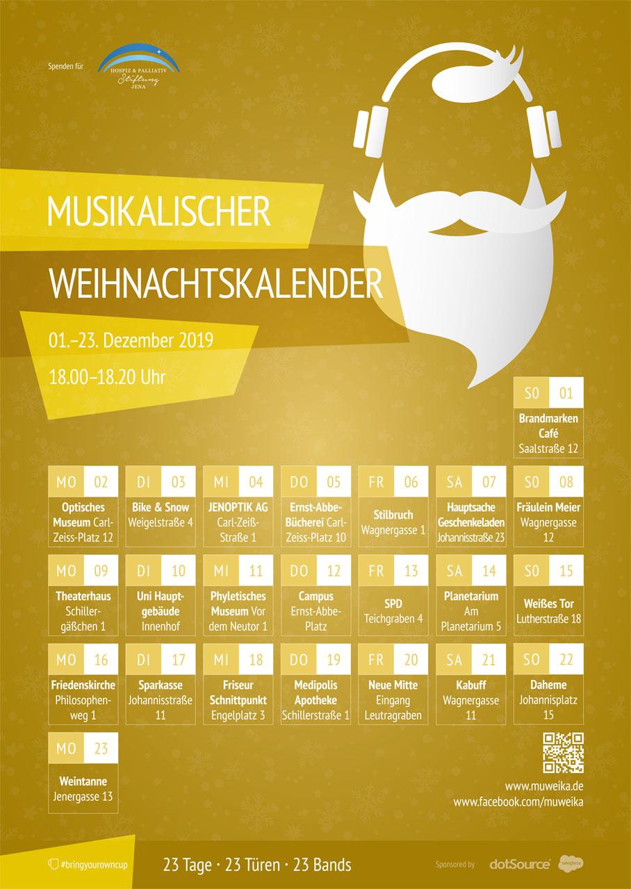 Musikalischer Weihnachtskalender Jena 2019 Überblick